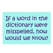 Misspelled word in Dictionary Postcards (Package o