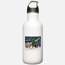 XmasMagic/2 Cavaliers Water Bottle