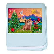 Xmas Fantasy/Chihuahua baby blanket