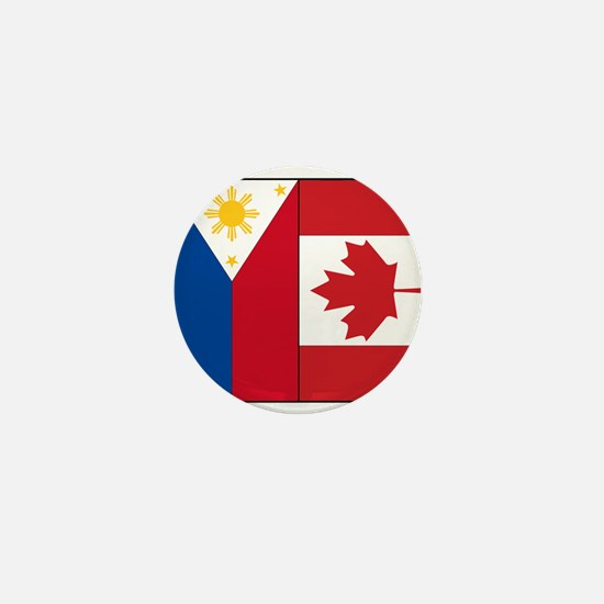 PI Flag & Canada Flag Mini Button