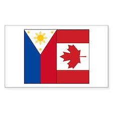 PI Flag & Canada Flag Decal