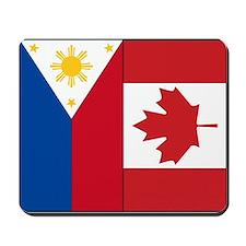 PI Flag & Canada Flag Mousepad