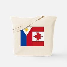 PI Flag & Canada Flag Tote Bag