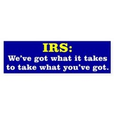 What the IRS Has Bumper Sticker