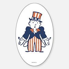 Broke Uncle Sam Sticker (Oval)