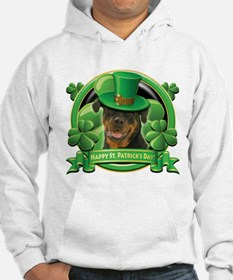 Happy St. Patrick's Day Rottweiler Hoodie