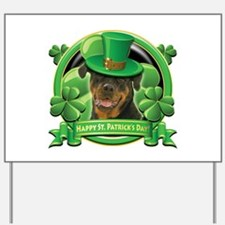 Happy St. Patrick's Day Rottweiler Yard Sign
