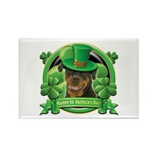 Happy St. Patrick's Day Rottweiler Rectangle Magne