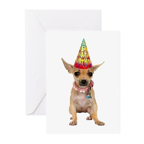 Chihuahua Birthday Greeting Cards (Pk of 20)