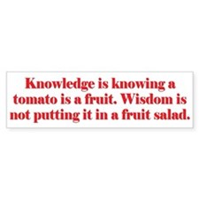 Tomato Fruit Salad Bumper Sticker