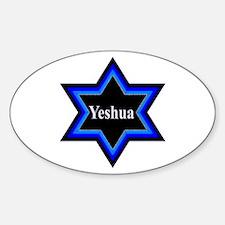 Yeshua Star of David Oval Decal