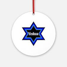 Yeshua Star of David Round Ornament