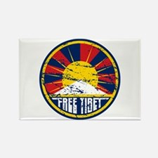 Free Tibet Grunge Rectangle Magnet