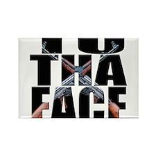 To Da Face Call of Duty AK Rectangle Magnet