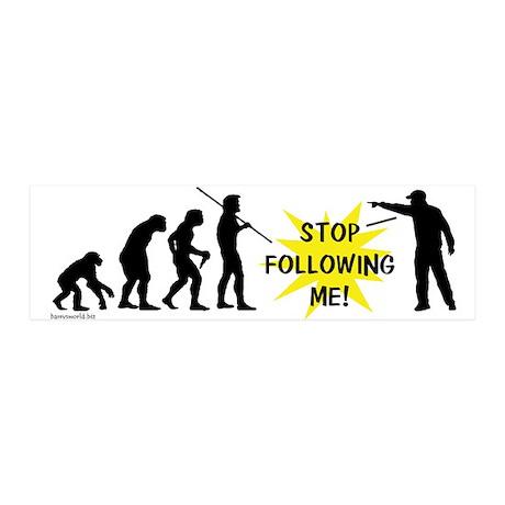 Stop Following! 21x7 Wall Peel