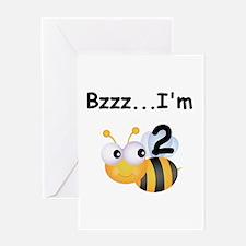 Buzz Bee 2nd Birthday Greeting Card