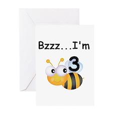 Buzz Bee 3rd Birthday Greeting Card