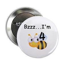 "Buzz Bee 4th Birthday 2.25"" Button"