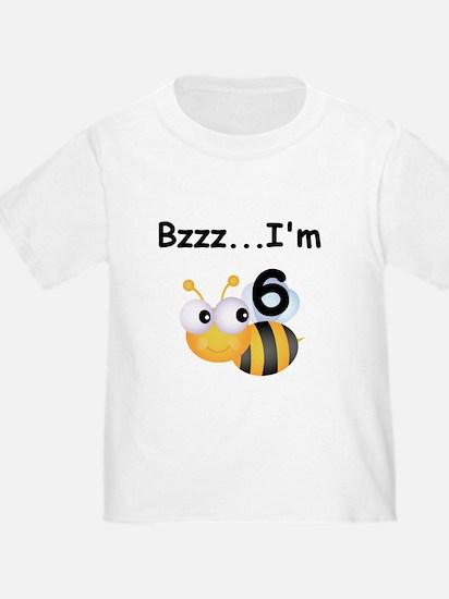 Buzz Bee 6th Birthday T