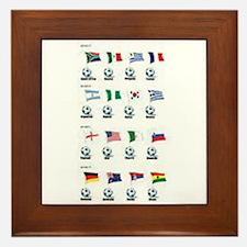 Soccer balls and Flags Framed Tile