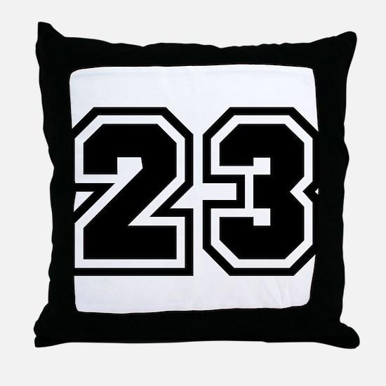Varsity Uniform Number 23 Throw Pillow