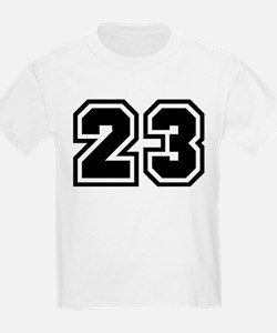 Varsity Uniform Number 23 Kids T-Shirt