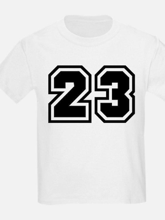 Varsity Uniform Number 23 Kids T-Shirt