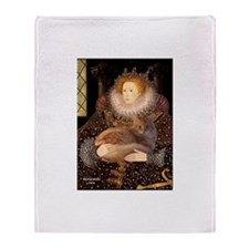 Queen / Red Maine Coon Throw Blanket