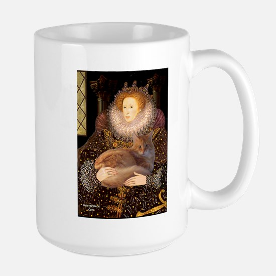 Queen / Red Maine Coon Large Mug
