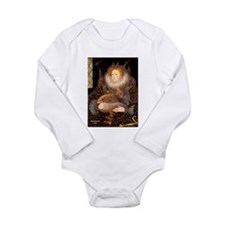 Queen / Red Maine Coon Long Sleeve Infant Bodysuit