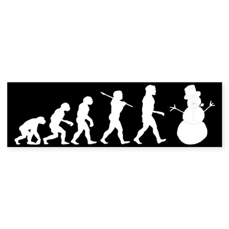 Evolution of Snowman Sticker (Bumper 10 pk)