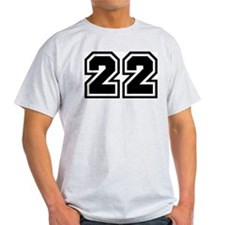 Varsity Uniform Number 22 Ash Grey T-Shirt