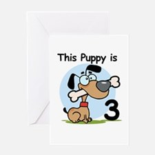This Puppy is 3 Greeting Card
