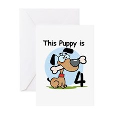 This Puppy is 4 Greeting Card