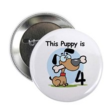 """This Puppy is 4 2.25"""" Button"""