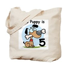 This Puppy is 5 Tote Bag