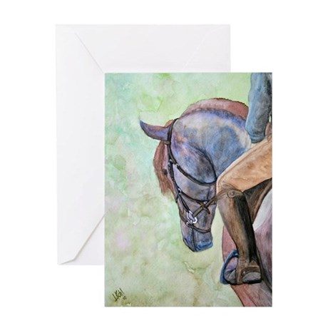 horse n rider Greeting Cards