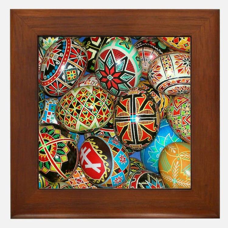 Pysanky Group 2 Framed Tile