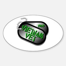 1969 Vietnam Vet Sticker (Oval)