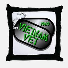 1969 Vietnam Vet Throw Pillow