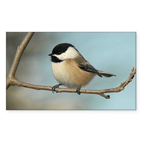 Chickadee Sticker (Rectangle)