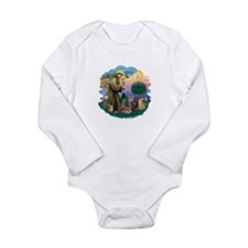 St Francis / 4 Cats Long Sleeve Infant Bodysuit