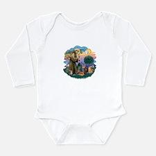 St Francis / 4 Cats Long Sleeve Infant Bodysuit