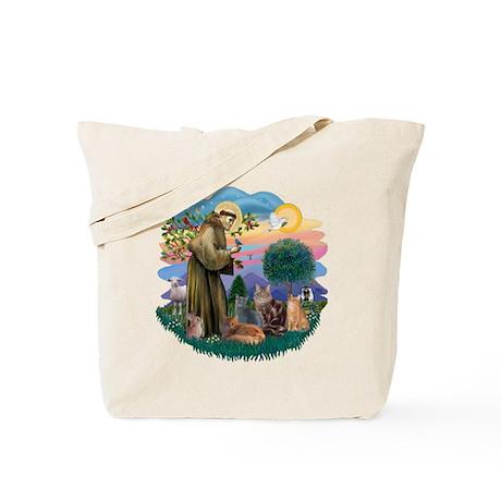 St Francis / 4 Cats Tote Bag