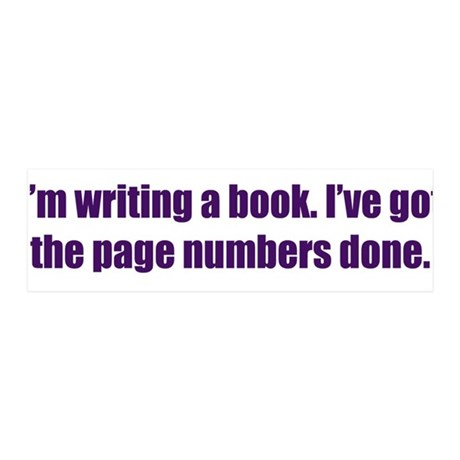 Writing a Book 36x11 Wall Decal