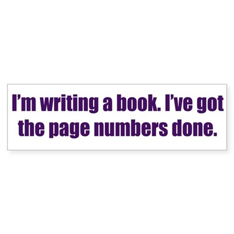 Writing a Book Sticker (Bumper 50 pk)