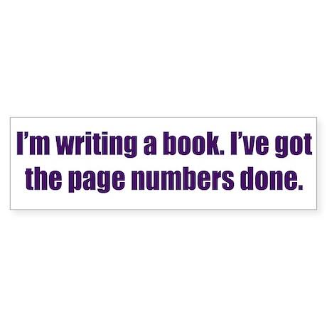Writing a Book Sticker (Bumper)
