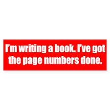 Writing a Book Car Car Sticker