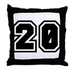 Varsity Uniform Number 20 Throw Pillow
