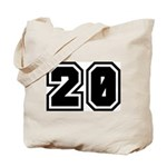 Varsity Uniform Number 20 Tote Bag
